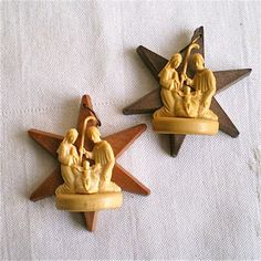 Vintage Nativity Ornaments