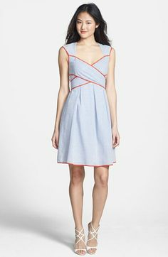 Jessica Simpson Seersucker Fit & Flare Dress available at #Nordstrom