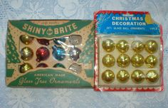 Shiny Brite Christmas Ornaments Miniature Feather by vintagegifts, $12.99
