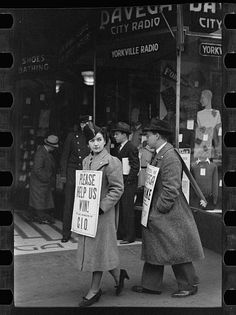 Library of Congress image from a department store strike during the Great Depression.
