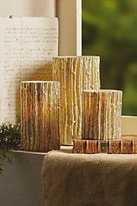 Festive Forest Flameless Candles