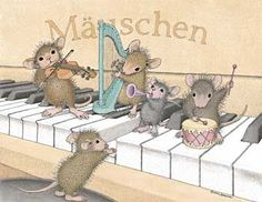 """Mice Symphony"" from House-Mouse Designs® Coloring Books, Coloring Pages, House Mouse Stamps, Mouse Illustration, Mouse Pictures, Pet Mice, Hamster, Cute Mouse, 3d Prints"