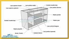Plano y medidas como hacer un esquinero de cocina de for Plano bajo mesada