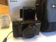 SONY CYBER-SHOT DSC-HX80 DIGITAL CAMERA 18.2 MP 8GB Extra batteries charger