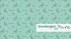 VORBESTELLUNG Schwalbenglück Farbe mint (rauchig)  Baumwolljersey