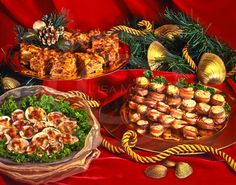 Holiday Appetizers, Kugel, Clams
