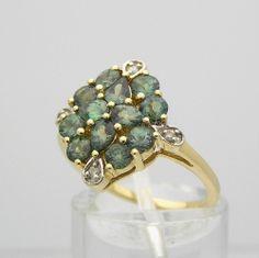 14K Gold Alexandrite Ring Yellow Gold Diamond Accents #QVC #Alexandrite #Gold