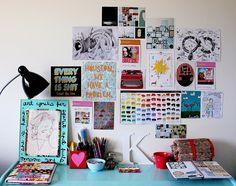 """studio inspiration wall"""