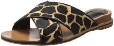 10 Crosby Women's Pete Dress Sandal,Black/Camel,7.5 M US