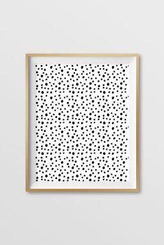 Black and White Painted Spots Hand Drawn Modern Art Instant Download