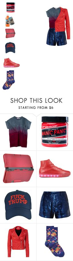 """""""red and navy   #red #blue #navy #america"""" by toyherb ❤ liked on Polyvore featuring Manic Panic NYC, Ashish, IRO and HOT SOX"""