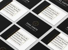 Business card design for Sage Earth Acupuncture. #printdesign #businesscard #logo #graphicdesign