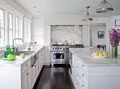 White kitchen cabinets with gray quartz countertops is one of images from white kitchen quartz countertops. This image's resolution is pixels. Find more white kitchen quartz countertops images like this one in this gallery White Marble Kitchen, White Kitchen Cabinets, White Granite, Gray Marble, White Quartzite, Cream Cabinets, Dark Cabinets, Marbel Kitchen, Espresso Cabinets