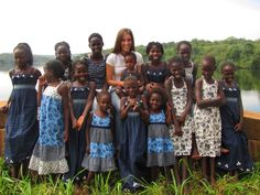 Image detail for -Katie Davis and her daughters in Uganda