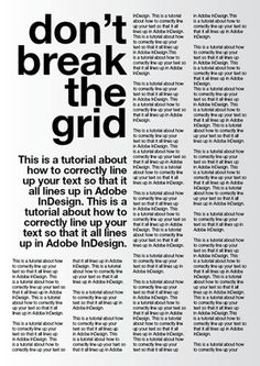 Yes - don't break the grid! A tutorial for good typography in InDesign - Setting up a baseline grid