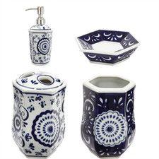 4 Piece Ceramic Bathroom Accessories Set