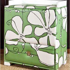 Happy Hamper Changing Table in Green Poppy @PoshTots