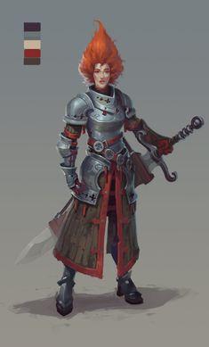 redhead warrior by wanderer-arts on DeviantArt #knight #redhead #sword #deviantart
