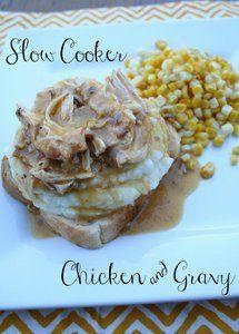 Four Ingredient Chicken and Gravy | AllFreeSlowCookerRecipes.com