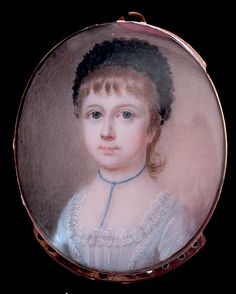 A portrait miniature of an unknown young Girl by Thomas Redmond
