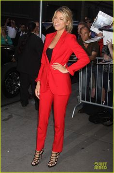 "Blake Lively in Michael Kors ""Samantha"" suit  Awww, Michael Kors, I love you too."