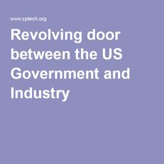 Revolving door between the US Government and the Pharmaceutical Industry