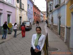 Calle del Centro Histórico de Potosí - Bolivia. Potosi (13,420') is one of the highest cities in the world