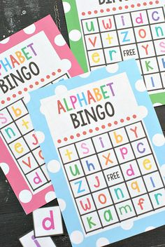 I've had SO many requests for this post. Sorry it took me so long to get it done! I created an Alphabet Bingo last year but it's all capital letters and it was time for me to make one w…