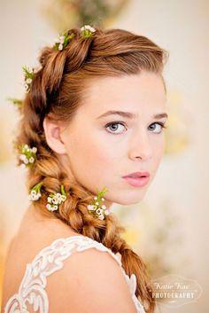 The Muse Part 1 Beautiful Memories Bridal Inspiration Hair and makeup by me Green Scarf Girl #braid #dutchbraid #romantic #wedding #bride #brideinspo #boho #bohobride