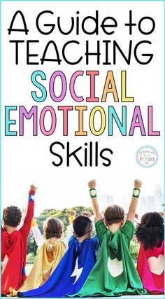 A teachers guide to teaching social emotional skills in the classroom. This guide has articles children's book suggestions videos and a program filled with lessons and activities to use with kids. Social Emotional Activities, Social Emotional Development, Learning Activities, Toddler Development, Emotional Support Classroom, Child Development Activities, Preschool Learning, Teaching Empathy, Teaching Social Skills