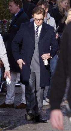 Taron Egerton on the set of Kingsman 2 - March 2016