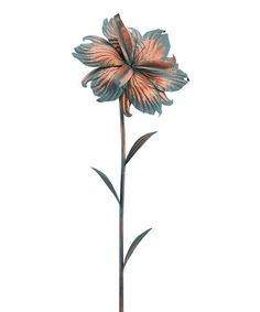 This Iris Patina Flower Stake is perfect! #zulilyfinds
