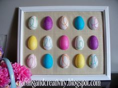 Crafting and Creativity: Framed Easter Egg Art