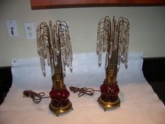 1940 S 50 S Colonial Victorian Couple Lamp George Martha