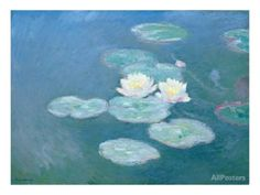 Waterlilies, Evening Giclee Print by Claude Monet - at AllPosters.com.au