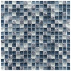 Somertile Reflections Mini 0.625-inch Gulf Glass/ Stone Mosaic Tiles (Pack of 10) | Overstock.com