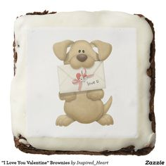 """""""I Love You Valentine"""" Brownies Square Brownies/Dozen I Love You, My Love, Valentine Treats, Throw A Party, Loving U, Yummy Treats, Brownies, Special Occasion, Tasty"""