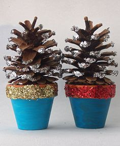 easy+christmas+crafts   Mini Terracotta Christmas Tree Decorations   On The Upcycle~