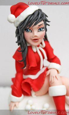 Tutorial Christmas girl - Мастер-классы по украшению тортов Cake Decorating Tutorials (How To's) Tortas Paso a Paso