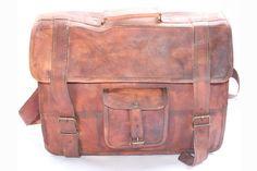 Vintage Handmade Leather Briefcase