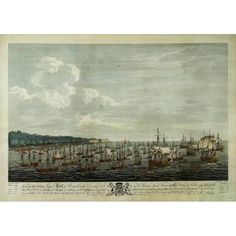 Two views from a series of 12 prints documenting the Siege of Havana, Cuba, in 1762, the last major operation of the Seven Years War, a global war fought between five major powers between 1756 and 1763. Both views were derived by marine painter Dominic Serres from eyewitness sketches made during these events by Lieutenant Philip Orsbridge, who had served at Havana. Orsbridge had them engraved and published. Treaty Of Paris, Pictorial Maps, Seven Years' War, The Siege, British Government, Havana Cuba, Grand Tour, Antique Prints, Natural History