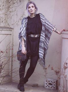 Summer Style, Sommer Look, Summer Fashion, Blogger Look, Boho, Boho Style, Gypsy Style, pastel hair, aztec print
