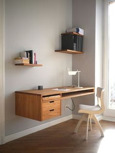 Top 6 Interesting Study Table Design Ideas You Should Try The study table is one of the media as a place to study and do daily tasks. An attractive desk can provide a different atmosphere in the study room, i. Study Table Designs, Study Room Design, Study Space, Kids Study Table Ideas, Study Desk, Study Office, Home Office Design, Home Office Decor, Office Designs
