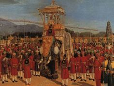 On tenth day of Mysuru Dasara           11th October 2016, a grand Procession (Jamboo Savari) starts from the palace. The main attraction of the Dasara procession will be the idol of Goddess Chamundeshwari which is carried in a Golden howdah weighing over 750 kgs on top of an elephant.