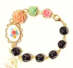 Bloom  Beaded Flower Bracelet by NestingPretty on Etsy, $26.00