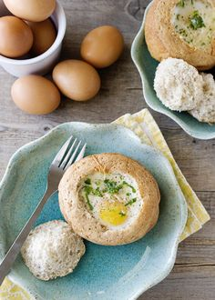 Land o' Lakes Eggs Baked in Bread Bowls recipe - This egg dish is incredibly easy to make, and yet, it is so beautiful. These eggs baked in a bread bowl are perfect for a Sunday brunch, or maybe even a holiday breakfast. #recipe #bread #eggs