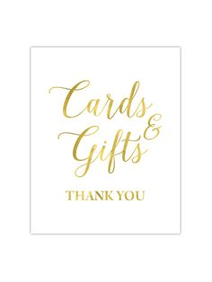 Our foil printed Card and Gifts sign is perfect to place on the cards and gifts table at your wedding. It's printed with gold, rose gold or silver foil on your choice of premium thick cardstock paper.