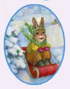 by Susan Wheeler Forest Creatures, Woodland Creatures, Bunny Art, Cute Bunny, Creative Pictures, Creative Art, Christmas Illustration, Illustration Art, Rabbit Art