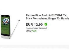 Ebay: DVB-T-Stick fürs Handy zum Preis von 12,90 Euro frei Haus https://www.discountfan.de/artikel/tablets_und_handys/ebay-dvb-t-stick-fuers-handy-fuer-12-90-euro.php Unterwegs auf dem Handy oder Tablet fernsehen: Das ist mit dem Tivizen-Pico-Android-2-DVB-T-Stick möglich, der jetzt bei Ebay zum Schnäppchenpreis von 12,90 Euro frei Haus zu haben ist. Das neue DVB-T2 wird jedoch nicht unterstützt. Ebay: DVB-T-Stick fürs Handy zum Preis von 12,90 Euro frei Haus ... #Dvb
