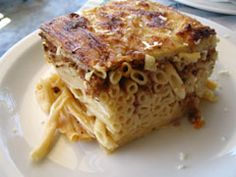 Pastitisio - my father used to make this ALL the time with a rich, dried salami diced inside